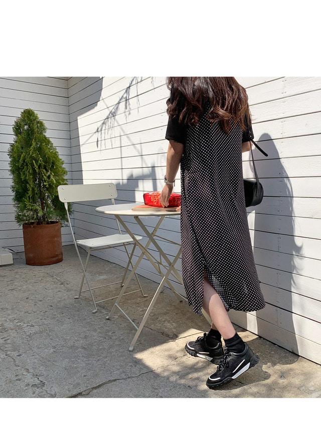 Dot Sleeveless Long Dress