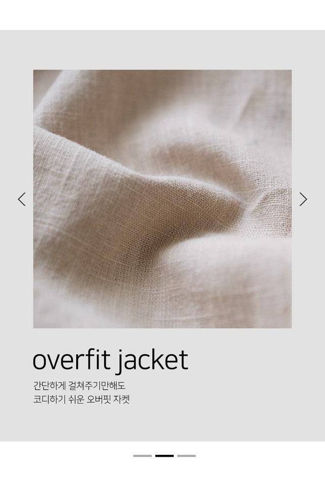 Sound Linen Over Buffet Jacket