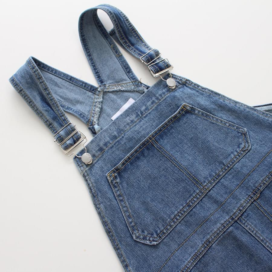 Denim suspenders dress