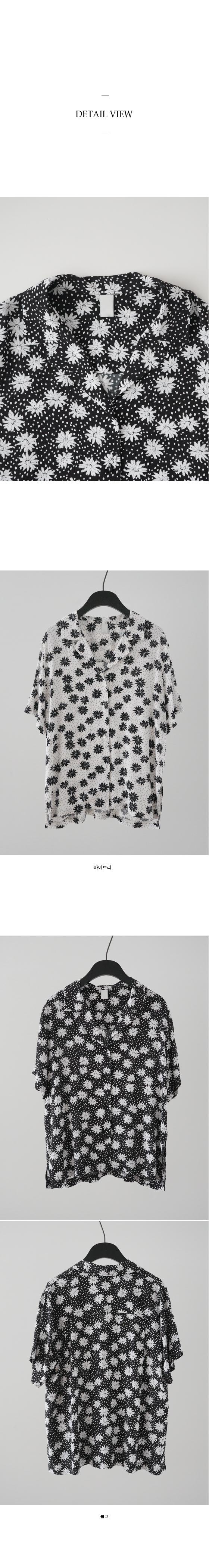 dot flower pattern set - blouse