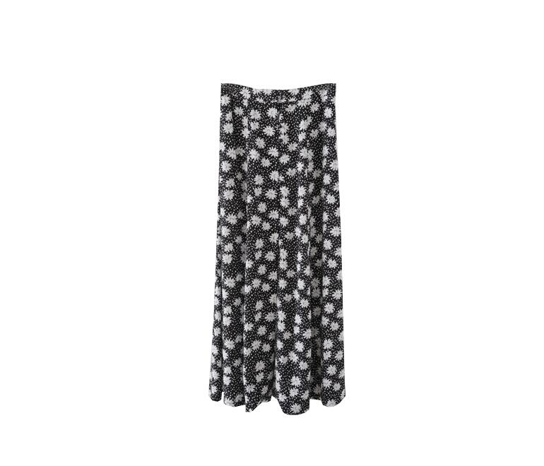 dot flower pattern set - skirt