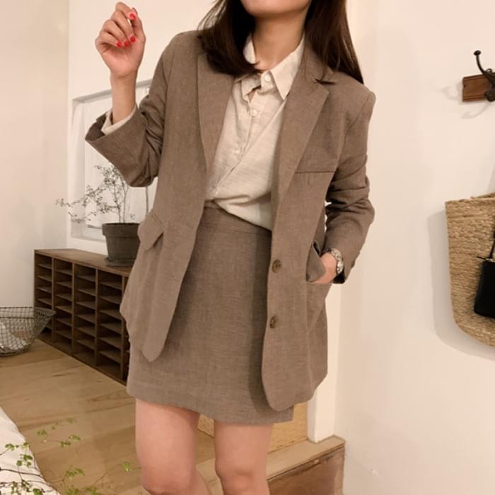 Powdery linen jacket