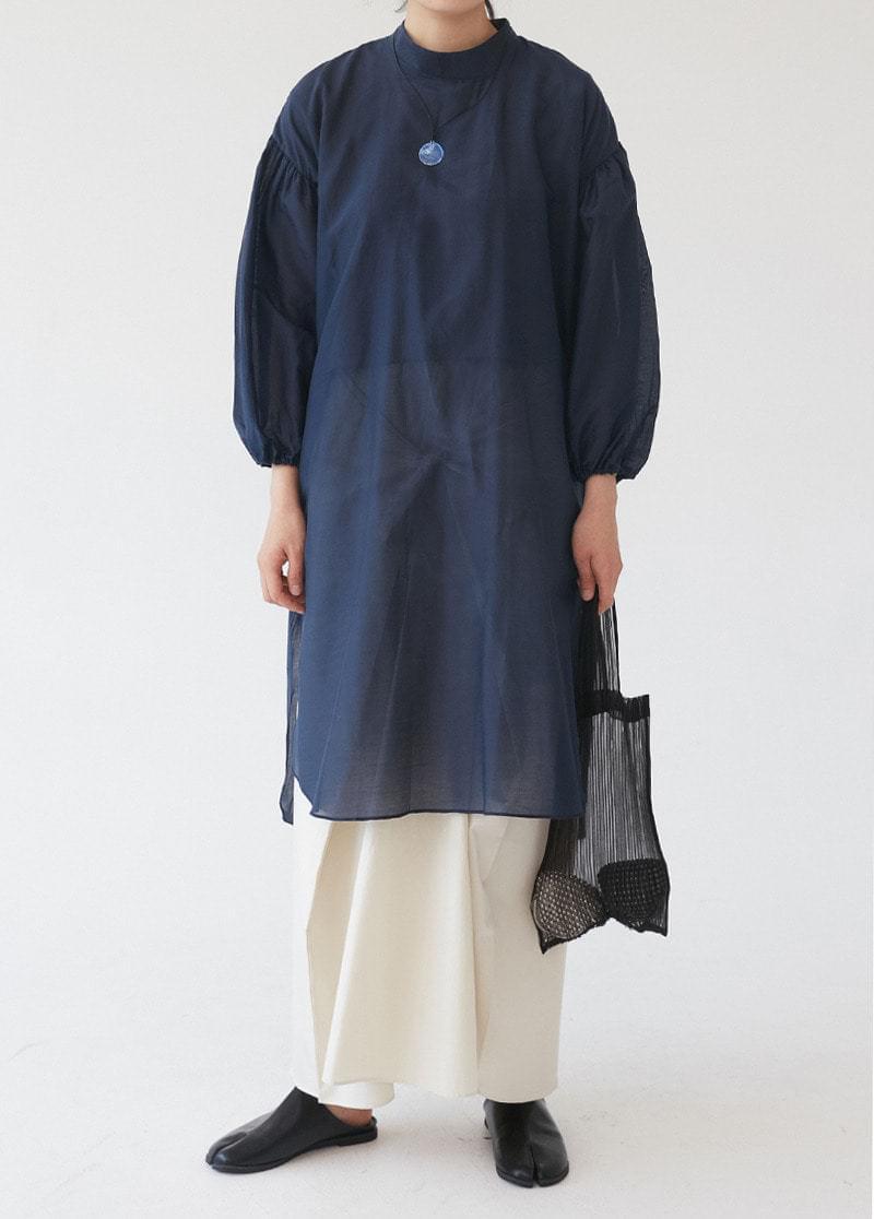 Silk-see-through dress