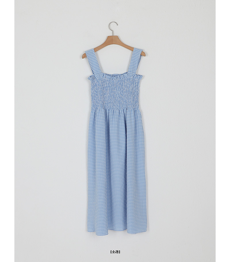 check smock one-piece