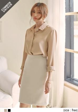 HIDDEN CHIFFON BLOUSE-2 TYPE WITH CELEBRITY _ Chang Nai, Yubin wearing