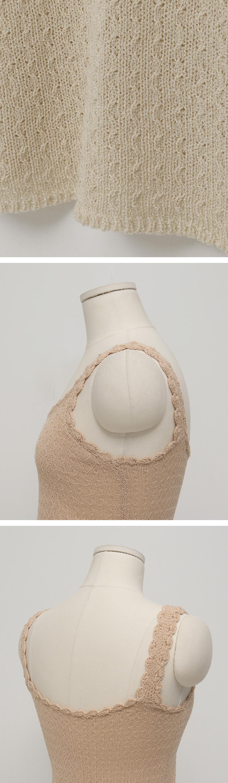 Mini lace knit sleeveless_S