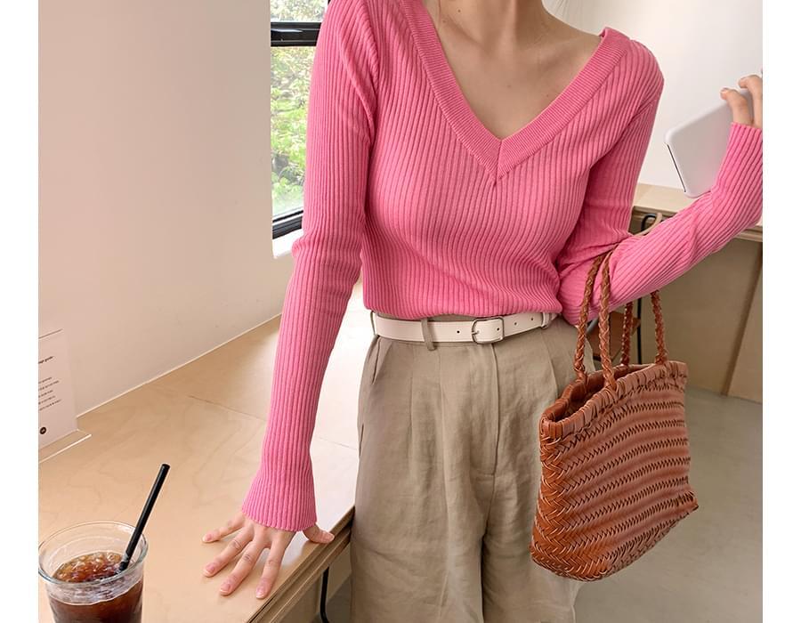 Golgi both v-neck knit_S