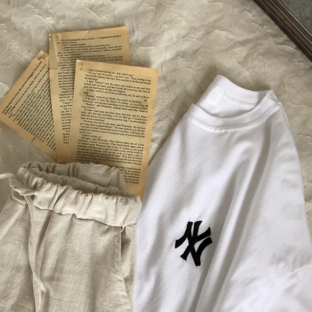 Yankees Embroidery T-shirt