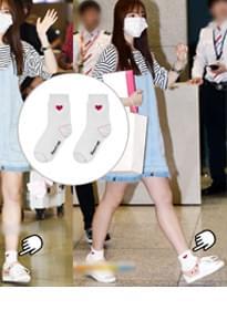 Girls Wear Girls Wear Heart club 16SSHeart Point Socks
