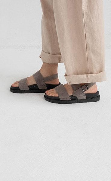 cushion wearing sandal