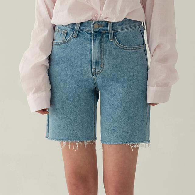 Part 4 Washed Denim Short Pants-spt