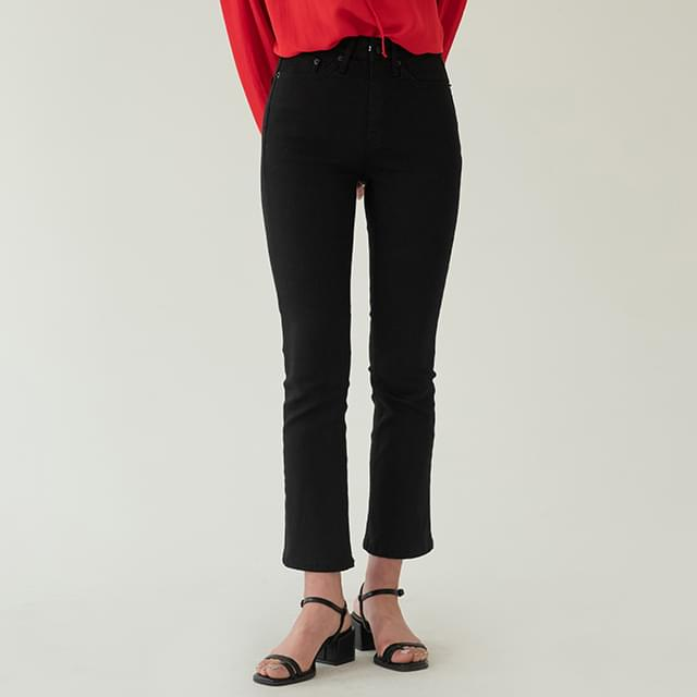 Slim Hidden Banding Cotton Pants