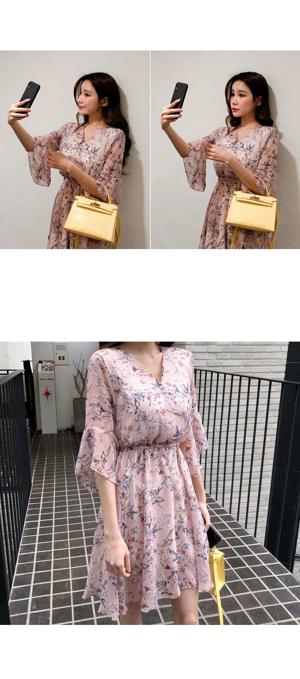 Angel Chiffon Flower Dress