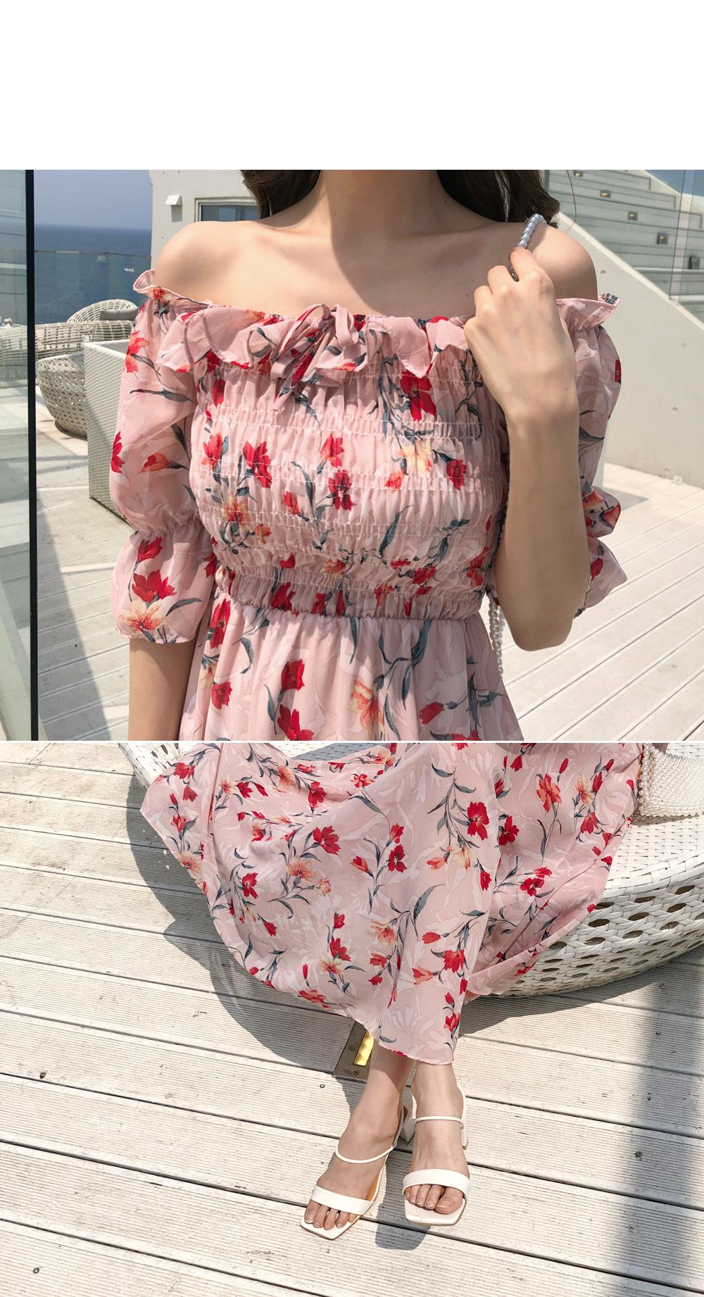 Love Flower Chiffon Dress