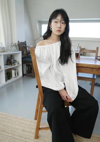 shirring detail blouse