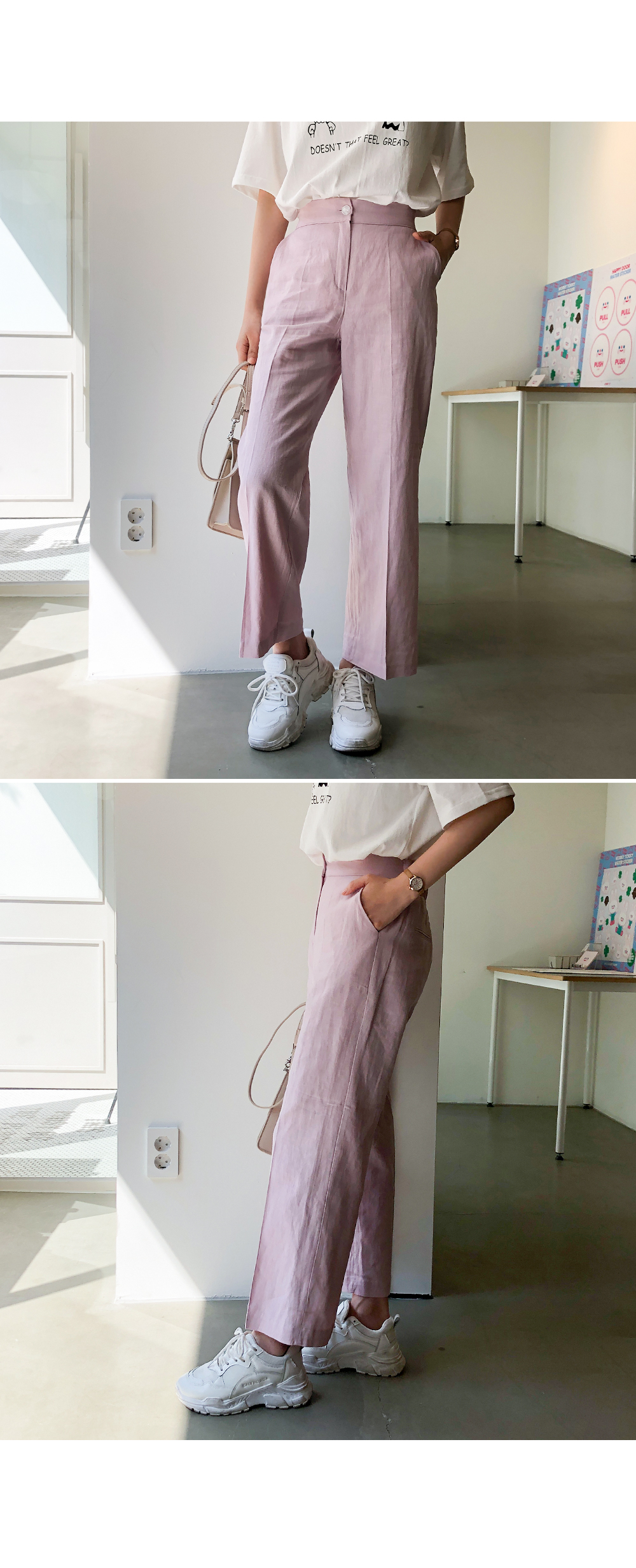 Lovely color linen slacks
