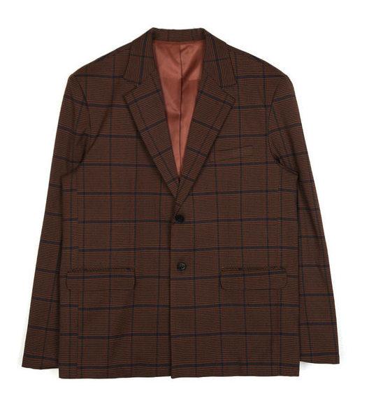loose-fit check vintage jacket - men
