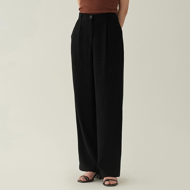 natural linen pintuck pants