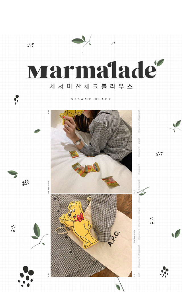 Marmalade ♥. Sesame glasses check blouse