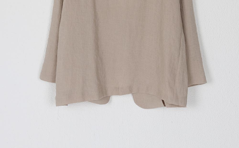 thin collarless standard fit jacket
