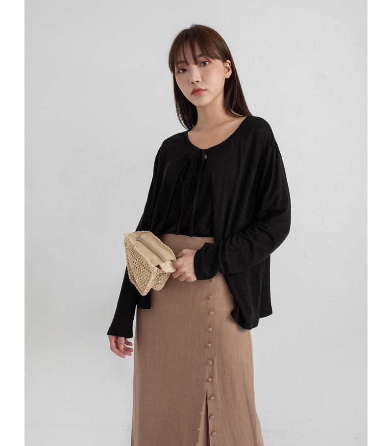joy linen cardigan set