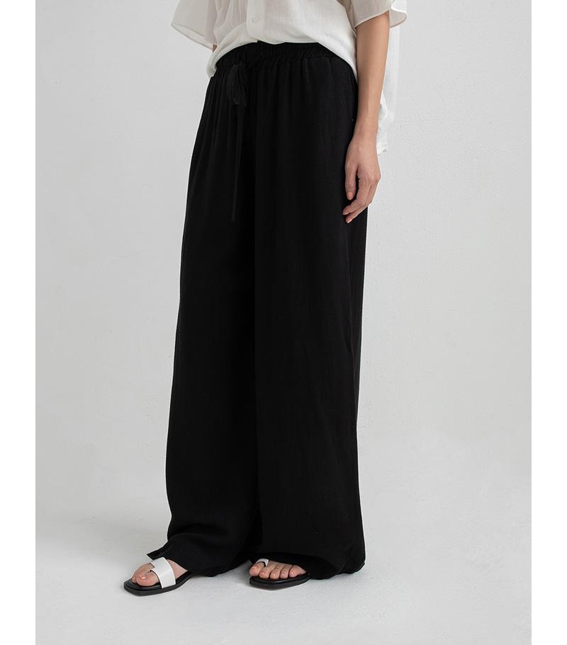 linen comfortable wide banding pants