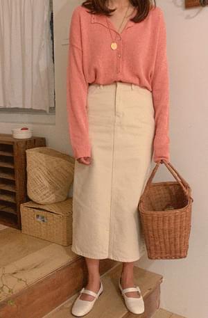 Twill Denim Long Skirts