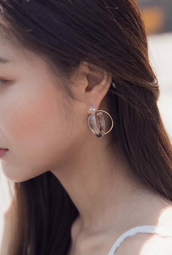 Fion transparent earrings