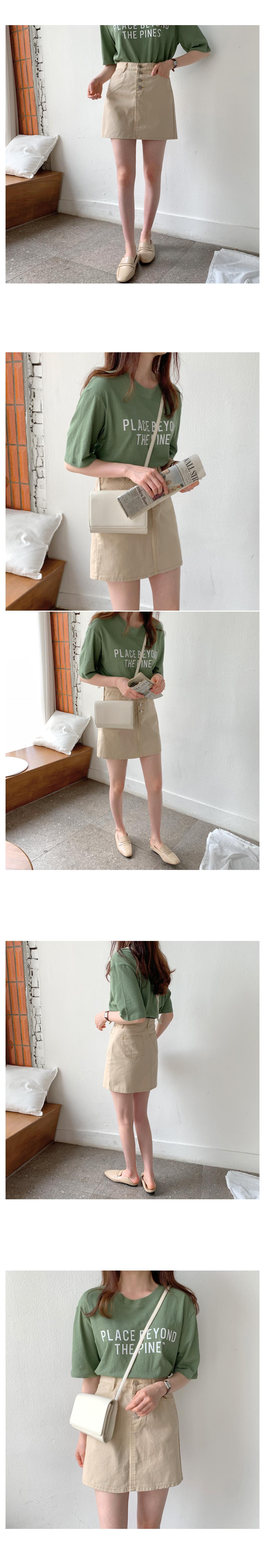 Kitty Button Mini Skirt