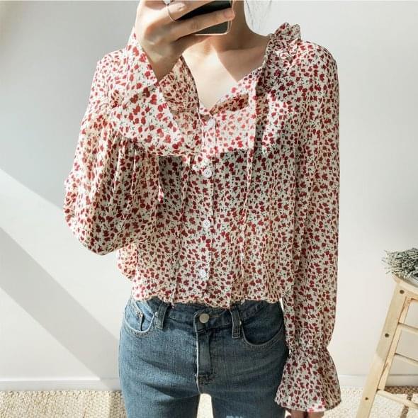 Frill carol blouse