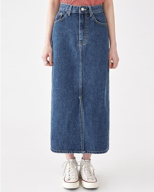 papper deep denim skirt (s, m)