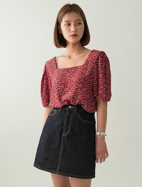 floret square blouse