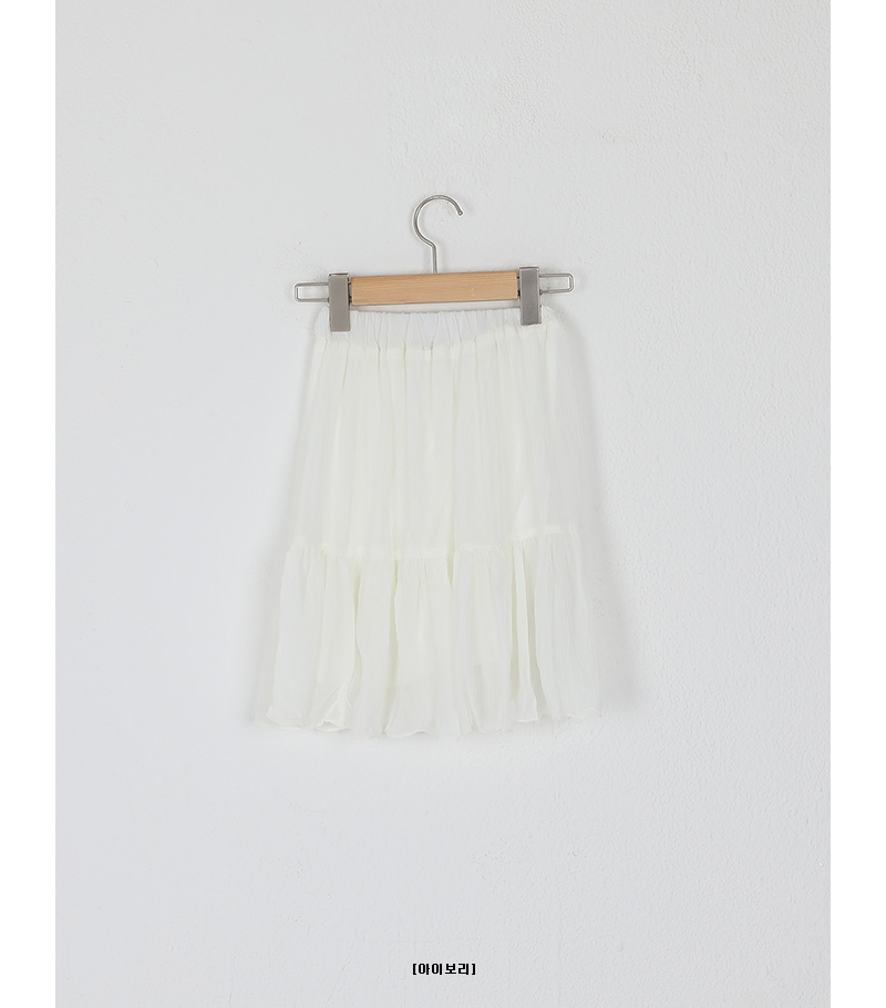 crease banding mini skirt