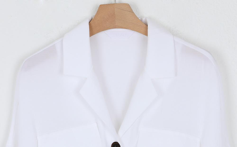 low smock banding v-neck blouse