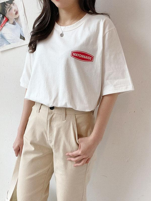 Mayonnaise round short sleeve polo
