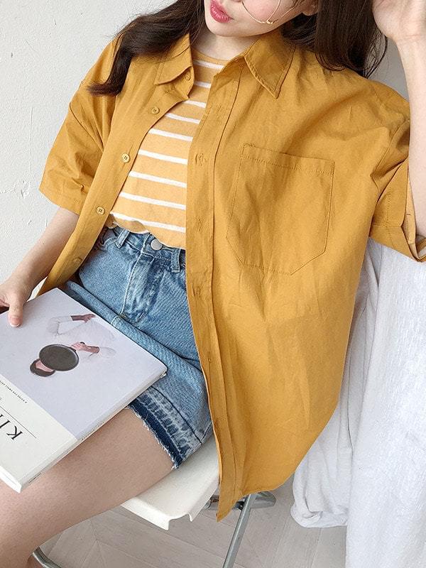 Nana Oxford Short Sleeve Shirt