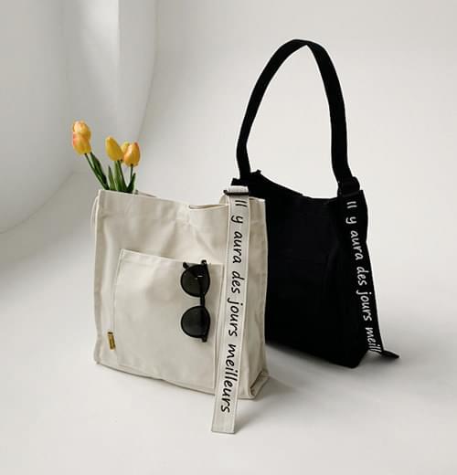 Lettering Line Canvas Bag