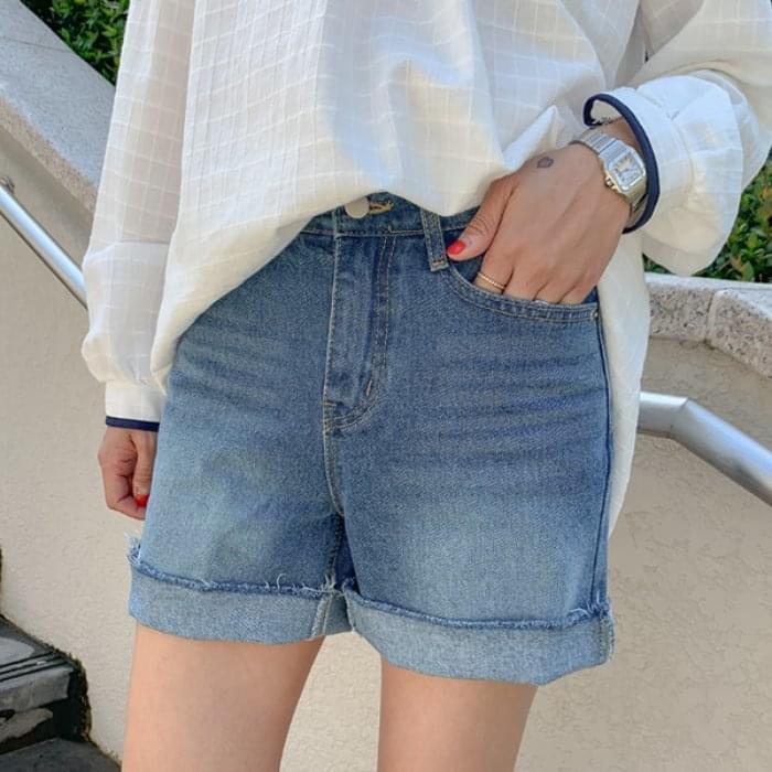 Coulton Washing 3.5 pcs denim shorts
