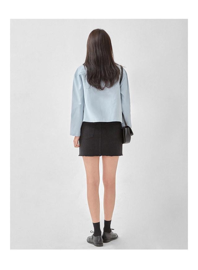 charming collar short jacket