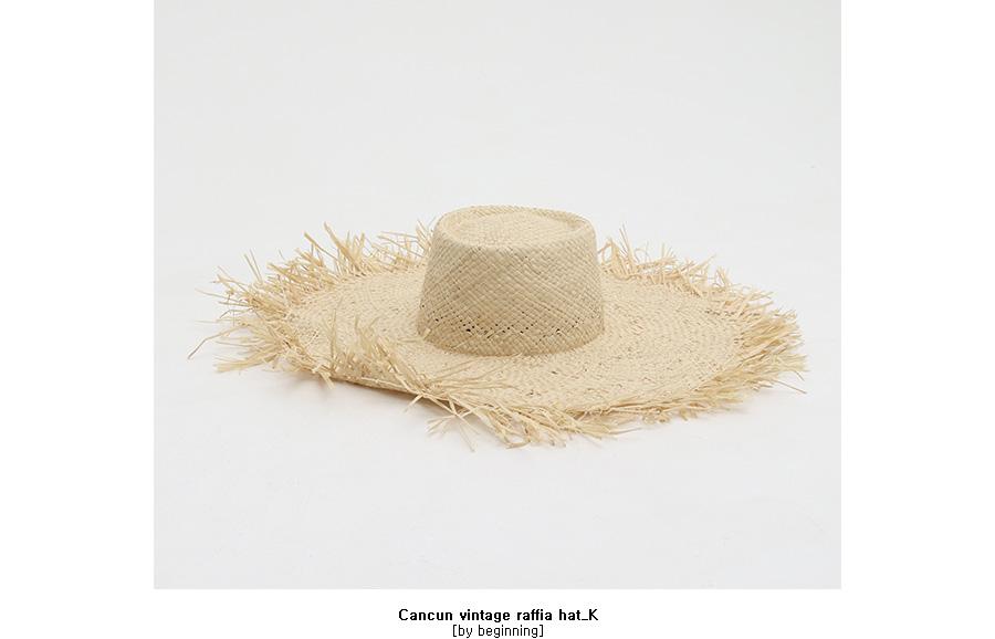 Cancun vintage raffia hat_K