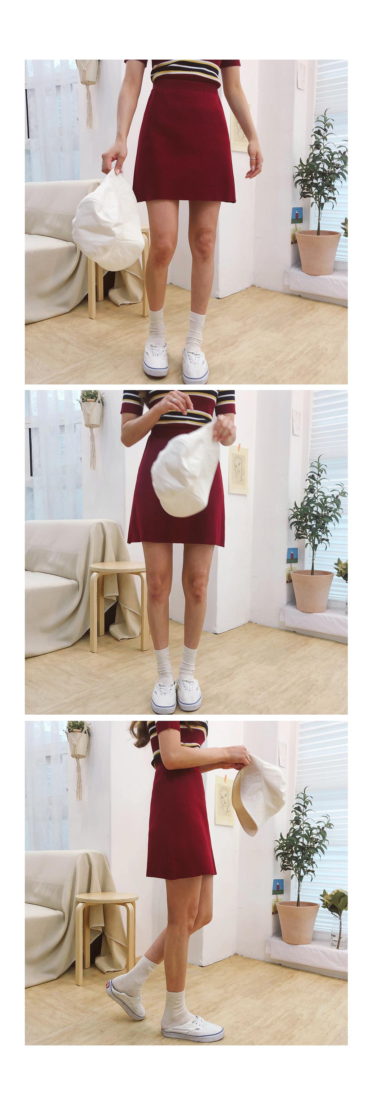 Sand knit & knit skirt