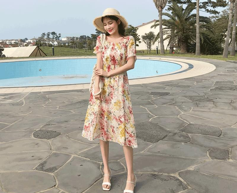 Watercolor Blossom Dress