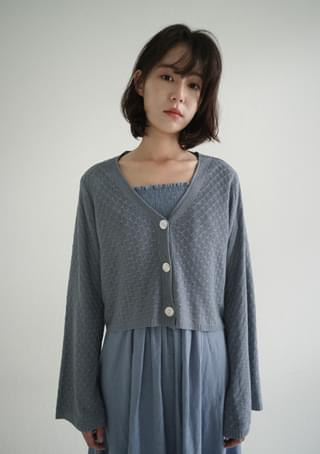 loose fit wide sleeve cardigan
