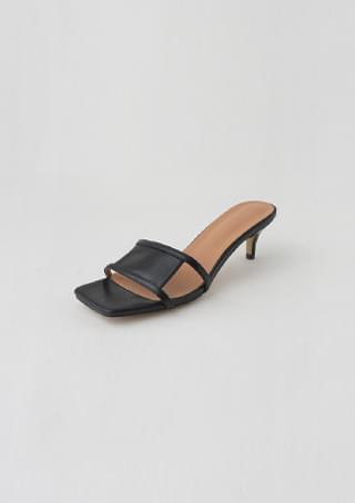 square stiletto mule heel