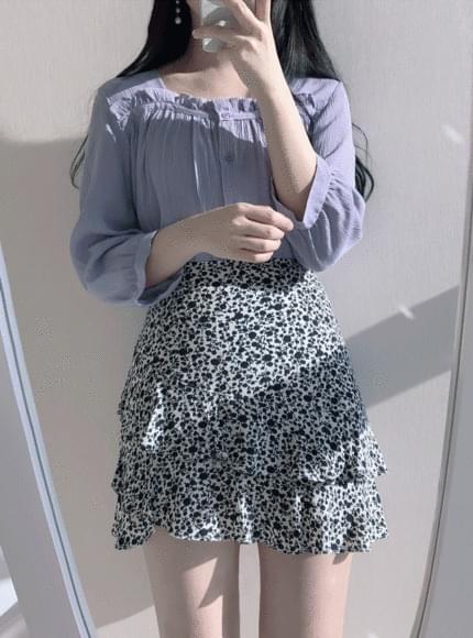 스퀘어 프릴♥blouse(연보라,아이)