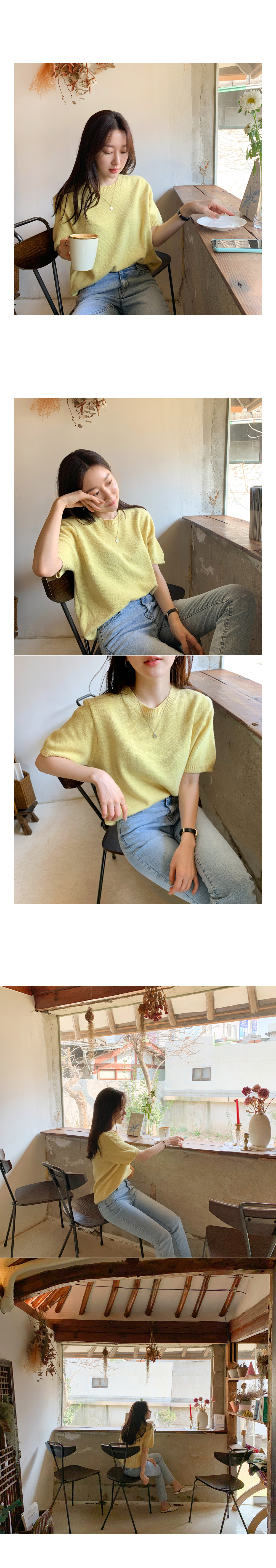 Louis short sleeve knit yellow