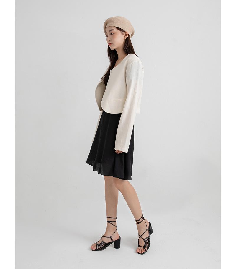 london linen crop jacket
