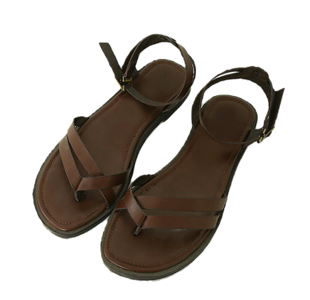 Browny-strap sandals