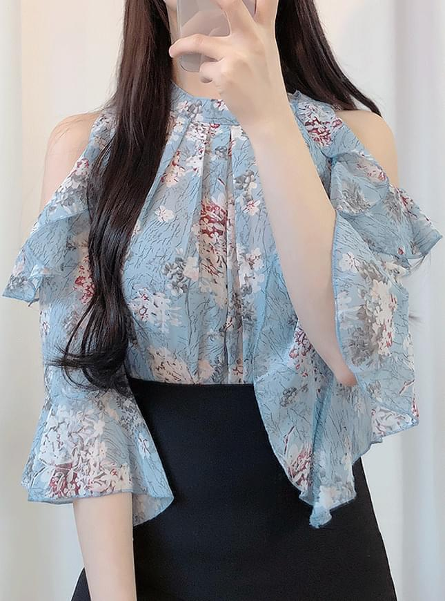 Honey flower off shoulder blouse