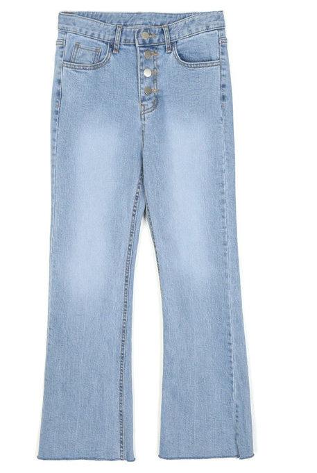 semi boots-cut denim pants - woman